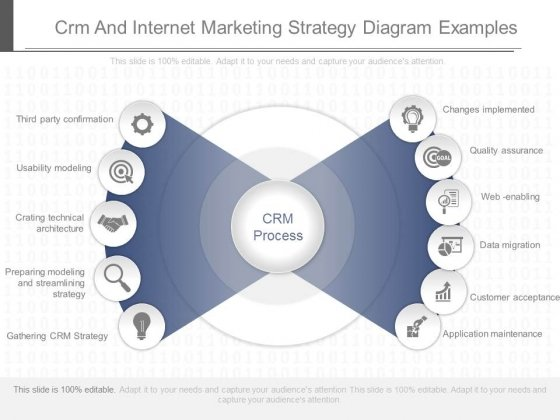 Crm And Internet Marketing Strategy Diagram Examples