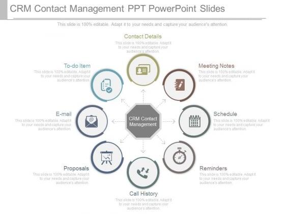 Crm Contact Management Ppt Powerpoint Slides