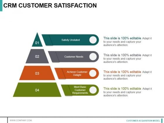crm customer satisfaction ppt powerpoint presentation infographics