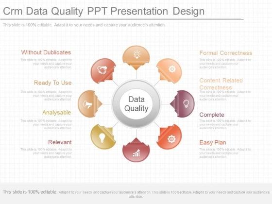Crm Data Quality Ppt Presentation Design
