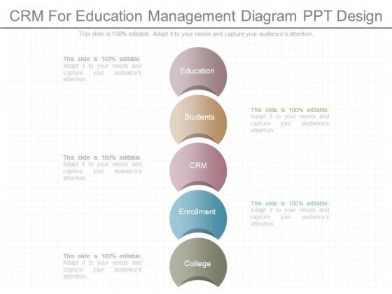 Crm For Education Management Diagram Ppt Design