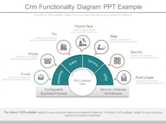 Crm Functionality Diagram Ppt Example