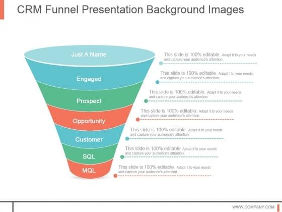Crm Funnel Presentation Background Images