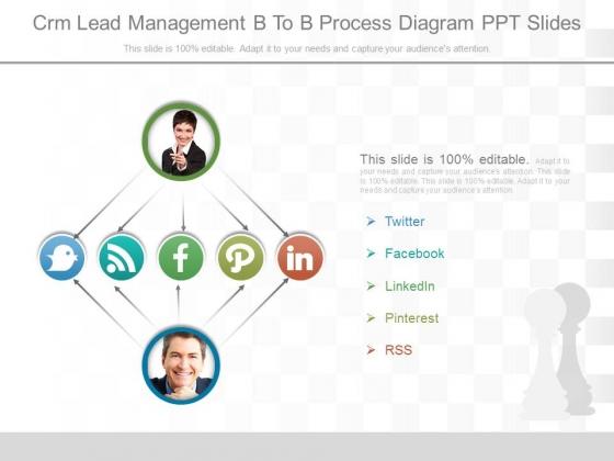 Crm Lead Management B To B Process Diagram Ppt Slides