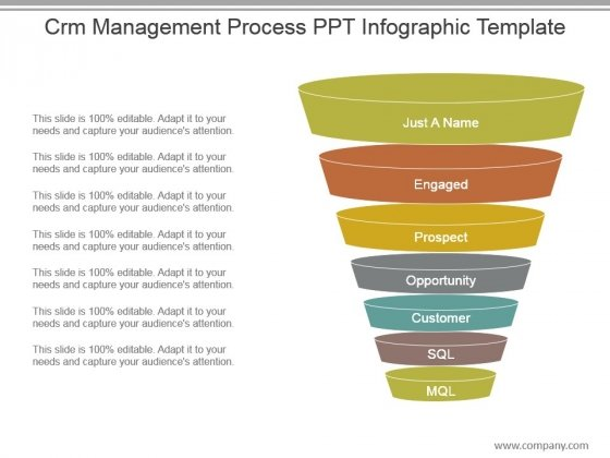 Crm Management Process Ppt Infographic Template