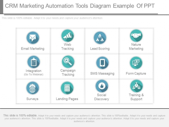 Crm Marketing Automation Tools Diagram Example Of Ppt