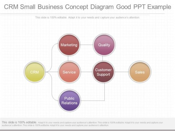 Crm Small Business Concept Diagram Good Ppt Example
