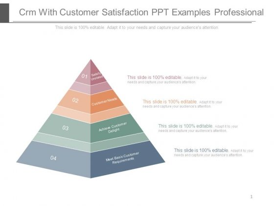 Crm With Customer Satisfaction Ppt Examples Professional
