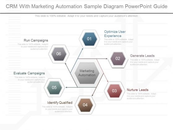 Crm With Marketing Automation Sample Diagram Powerpoint Guide