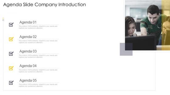 Cross_Channel_Marketing_Communications_Initiatives_Agenda_Slide_Company_Introduction_Download_PDF_Slide_1