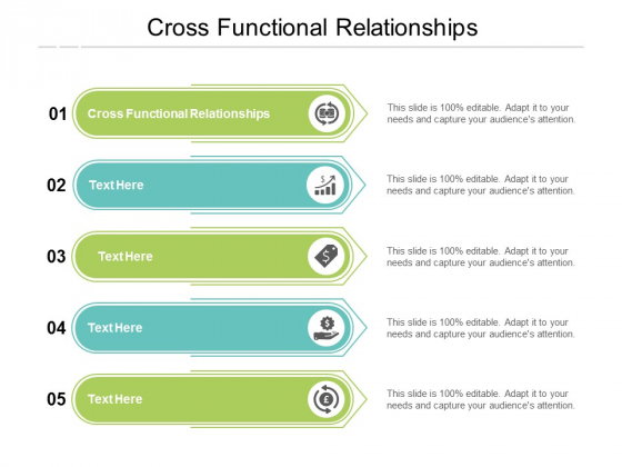 Cross Functional Relationships Ppt PowerPoint Presentation Slides Format Ideas Cpb