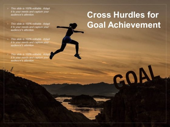 Cross Hurdles For Goal Achievement Ppt PowerPoint Presentation Pictures Design Ideas