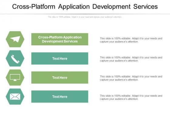 Cross Platform Application Development Services Ppt PowerPoint Presentation Gallery Design Inspiration Cpb Pdf