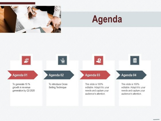 Cross Sell In Banking Industry Agenda Ppt Show Sample PDF