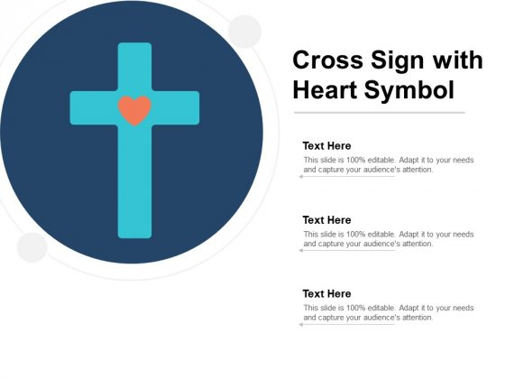 Cross Sign With Heart Symbol Ppt PowerPoint Presentation Visual Aids Summary