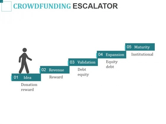 Crowdfunding Escalator Ppt PowerPoint Presentation Infographics Skills