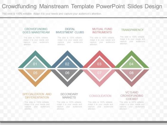 Crowdfunding Mainstream Template Powerpoint Slides Design