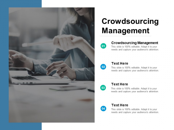 Crowdsourcing Management Ppt PowerPoint Presentation Infographic Template Shapes Cpb