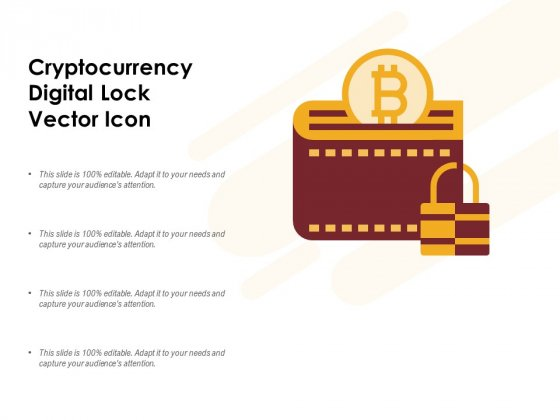 Cryptocurrency Digital Lock Vector Icon Ppt PowerPoint Presentation Infographics Outline
