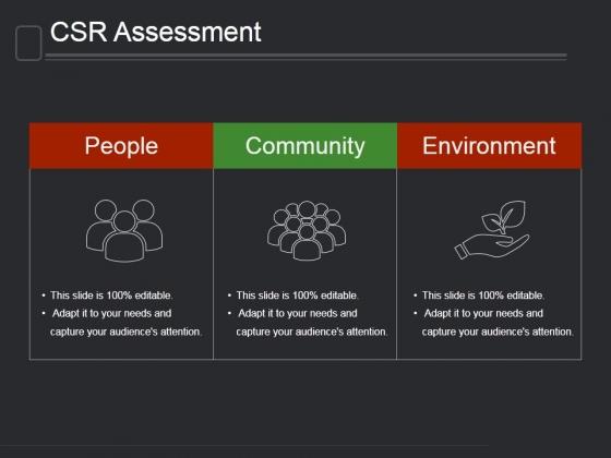 Csr Assessment Template 1 Ppt PowerPoint Presentation Background Image