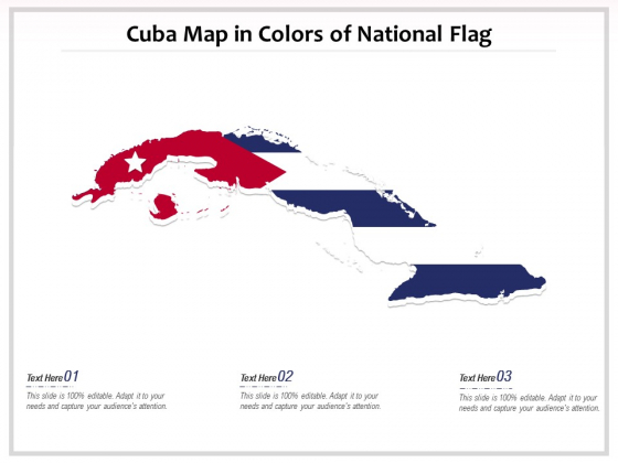 Cuba Map In Colors Of National Flag Ppt PowerPoint Presentation Infographics Graphic Images PDF