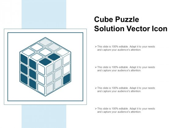 Cube Puzzle Solution Vector Icon Ppt PowerPoint Presentation Pictures Master Slide