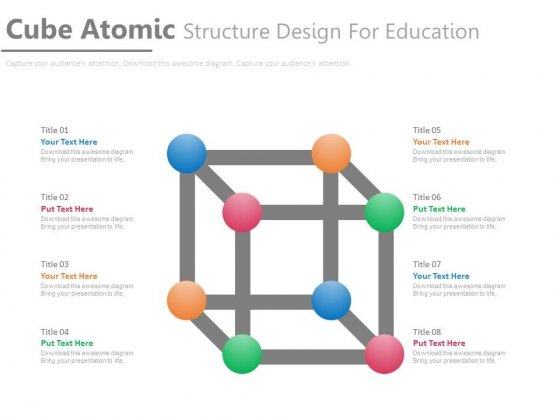Cubic Atomic Structure Diagram Powerpoint Template