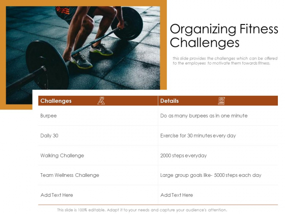 Cultivating The Wellbeing Culture In Organization Organizing Fitness Challenges Rules PDF