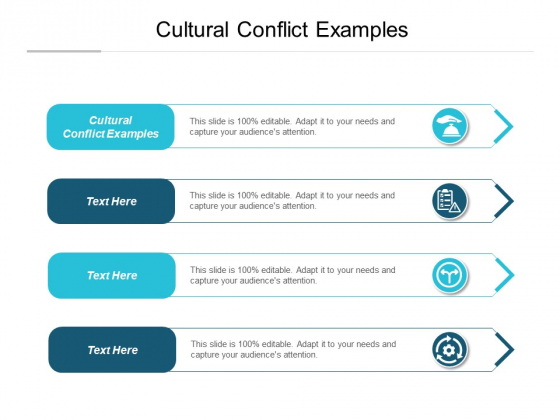 Cultural Conflict Examples Ppt PowerPoint Presentation Layouts Infographics Cpb