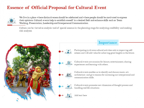 Cultural Event Essence Of Official Proposal For Cultural Event Rules PDF