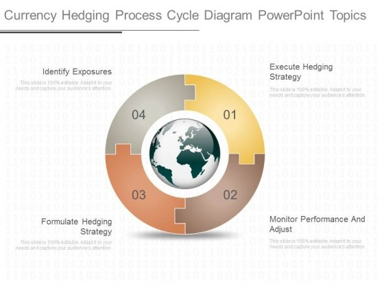 Currency Hedging Process Cycle Diagram Powerpoint Topics