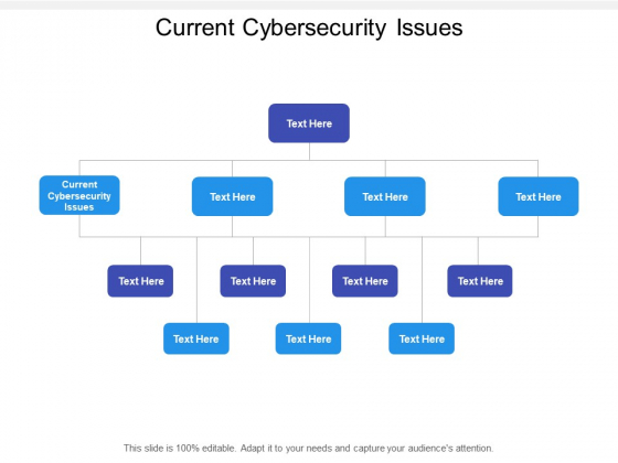 Current Cybersecurity Issues Ppt PowerPoint Presentation Ideas Infographic Template Cpb