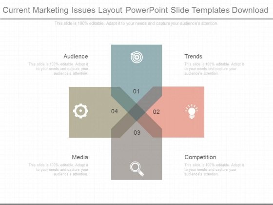 Current Marketing Issues Layout Powerpoint Slide Templates Download