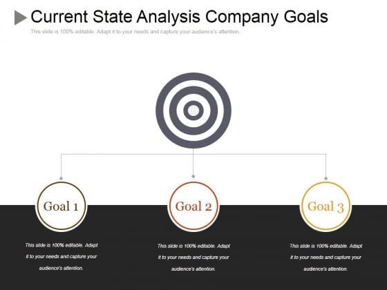 Current State Analysis Company Goals Ppt PowerPoint Presentation Professional Portfolio
