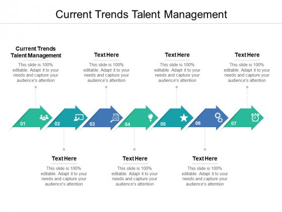 Current Trends Talent Management Ppt PowerPoint Presentation Infographic Template Graphics Design Cpb