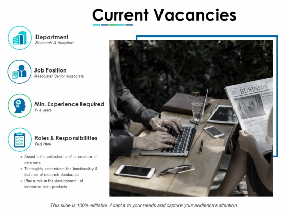 Current Vacancies Ppt PowerPoint Presentation Icon Layout Ideas