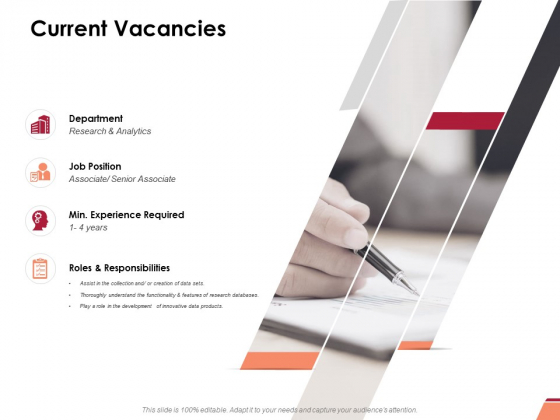 Current Vacancies Ppt PowerPoint Presentation Pictures Examples