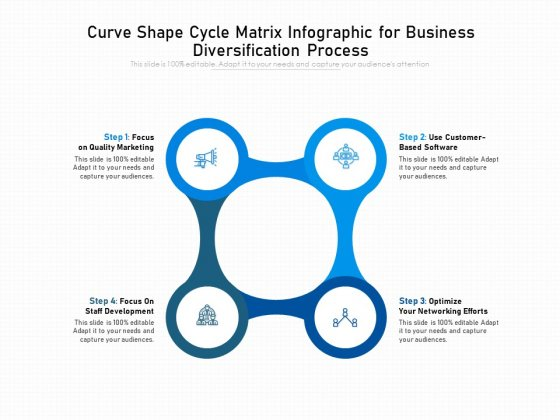 Curve Shape Cycle Matrix Infographic For Business Diversification Process Ppt PowerPoint Presentation File Graphic Images PDF