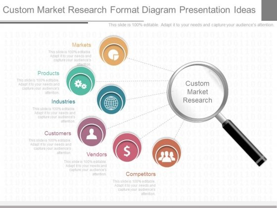 custom market research format diagram presentation ideas, Idea Presentation Template, Presentation templates