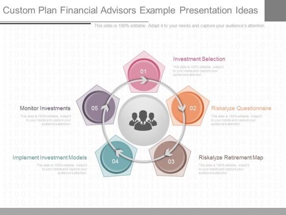 Custom Plan Financial Advisors Example Presentation Ideas
