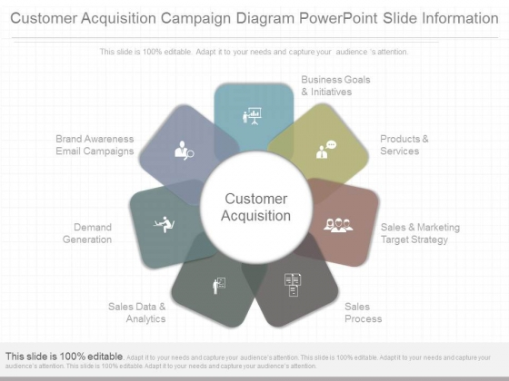 Customer Acquisition Campaign Diagram Powerpoint Slide Information