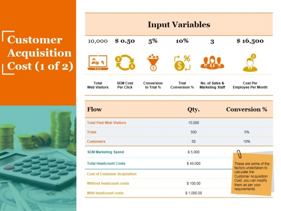 Customer Acquisition Cost Template 1 Ppt PowerPoint Presentation Styles Designs