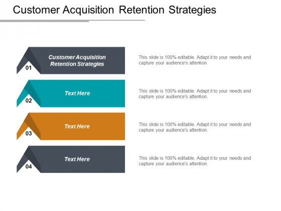 Customer Acquisition Retention Strategies Ppt PowerPoint Presentation Infographic Template Pictures Cpb