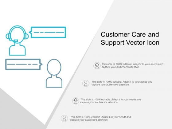 Customer Care And Support Vector Icon Ppt Powerpoint Presentation Styles Slides