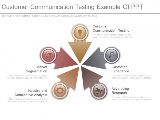 Customer Communication Testing Example Of Ppt