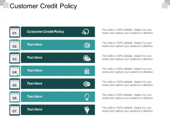 Customer Credit Policy Ppt PowerPoint Presentation Summary Cpb
