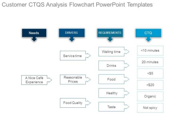 Customer Ctqs Analysis Flowchart Powerpoint Templates