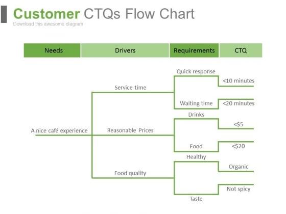Customer Ctqs Flow Chart Ppt Slides
