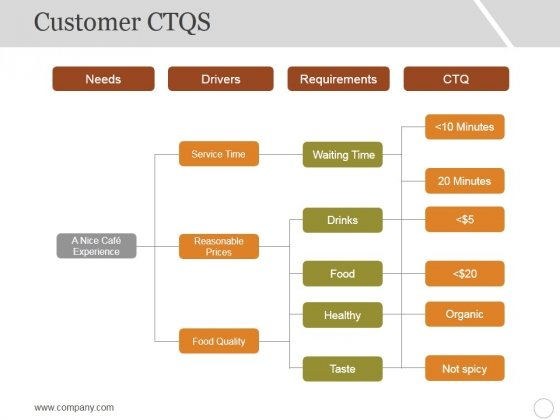 Customer Ctqs Ppt PowerPoint Presentation Deck
