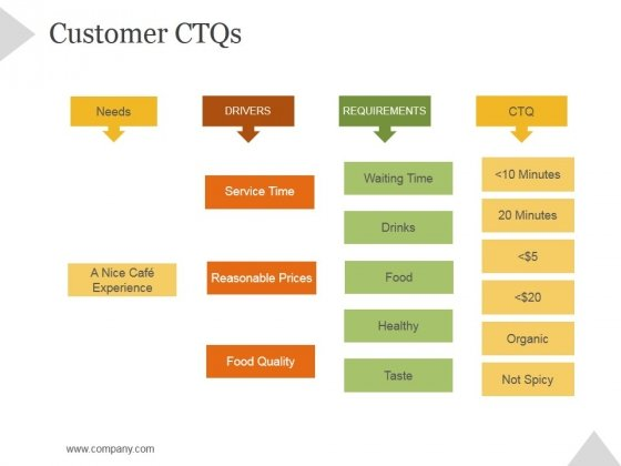 Customer Ctqs Ppt PowerPoint Presentation Shapes